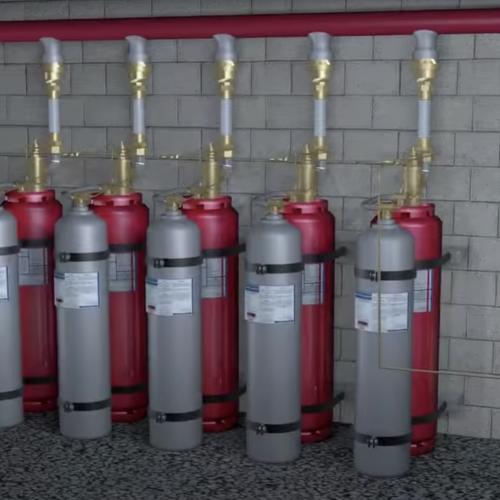 FM-200 Piston Flow Clean Agent Fire Suppression System Image